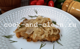 отбивные из свинины с луком фото рецепт пошагово