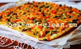 пицца с курицей грибами пошаговый рецепт