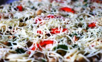 пицца с курицей грибами пошаговый