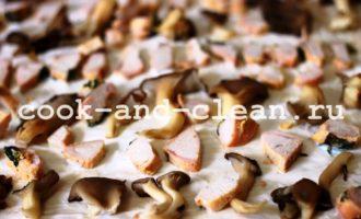 пицца с курицей грибами рецепт