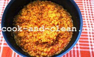 рис с томатной пастой пошаговый