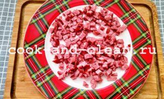 салат восточный с колбасой фото