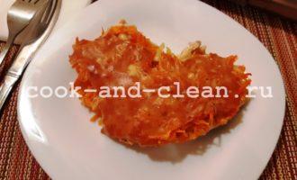 Горбуша с луком и морковью в духовке