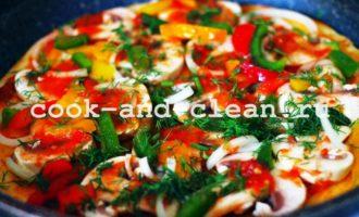 как приготовить постную пиццу на сковороде