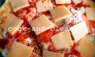 как приготовить яичницу с сыром на сковороде