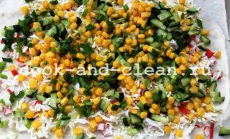 крабовый салат в лаваше пошаговый