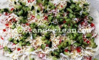 крабовый салат в лаваше фото рецепт