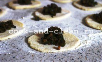 пельмени с грибами в духовке пошагово