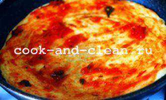 постная пицца на сковороде рецепт с фото