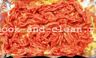 рецепт картошки с фаршем в духовке слоями
