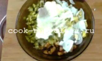 салат с фасолью и курсалат с фасолью и курицейицей