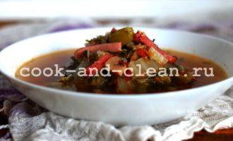 солянка с грибами и капустой