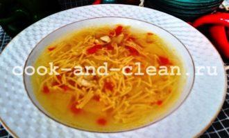 суп с картофелем и вермишелью