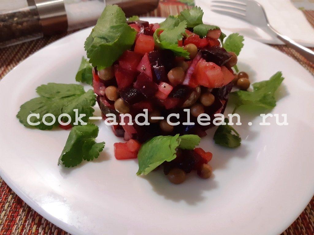 Винегрет рецепт без капусты с горошком