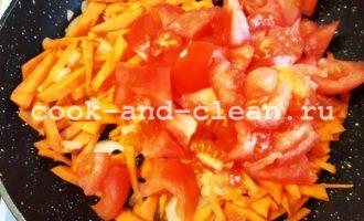 гречка помидор морковь лук