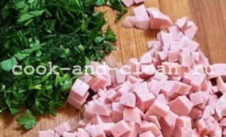 драники с сыром и колбасой