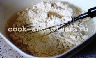 дрожжевой открытый пирог с яблоками фото рецепт