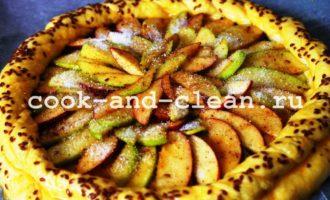 как приготовить дрожжевой открытый пирог с яблоками