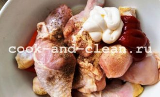 куриные голени с овощами рецепт с фото