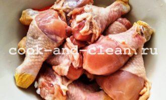 куриные голени с овощами фото