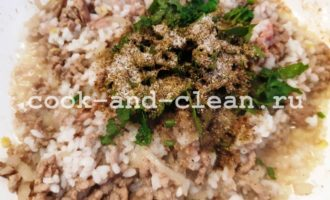 начинка пирога фарш с рисом