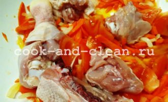 плов из гречки с курицей на сковороде