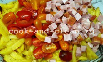 рецепты запеченного картофеля с помидорами и сыром