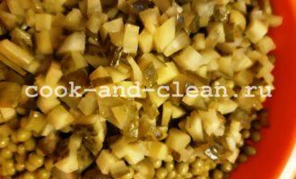 рецепт винегрета с горошком с фото