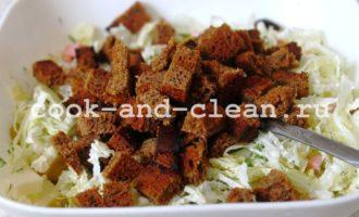 салат с колбасой и сыром пошаговый