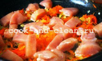 тушеная капуста с мясом курицы фото рецепт