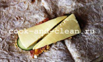 шаурма с колбасой и сыром пошаговый рецепт