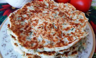 Быстрые лепешки с сыром и творогом
