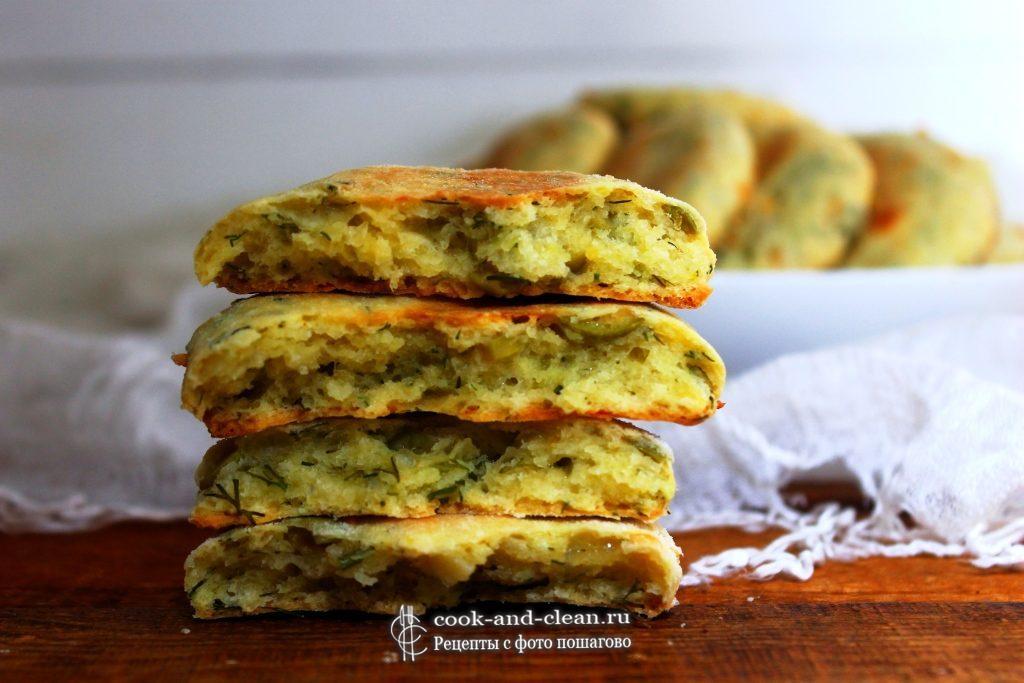 печенье с сыром и зеленью