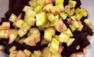 салат со свеклой вареной и фасолью