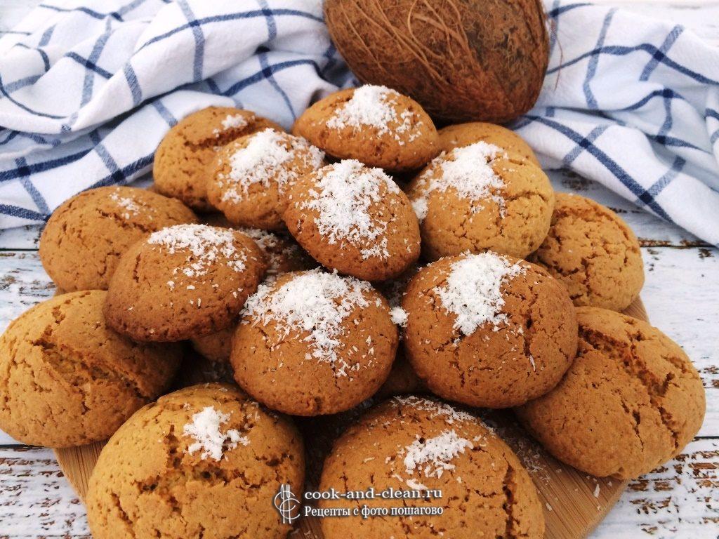 Простое печенье с кокосовой стружкой