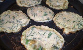 оладьи из кабачков с зеленью пошаговый рецепт
