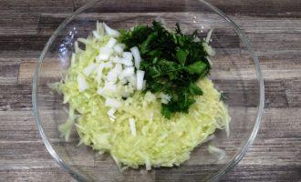 оладьи из кабачков с зеленью фото