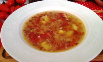 как приготовить гречневый суп с помидорами