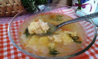 как приготовить суп с сырными клецками