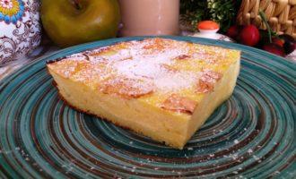 как приготовить творожная запеканка с яблоками в духовке