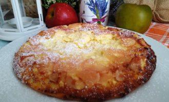 как приготовить творожная запеканка с яблоками и манкой