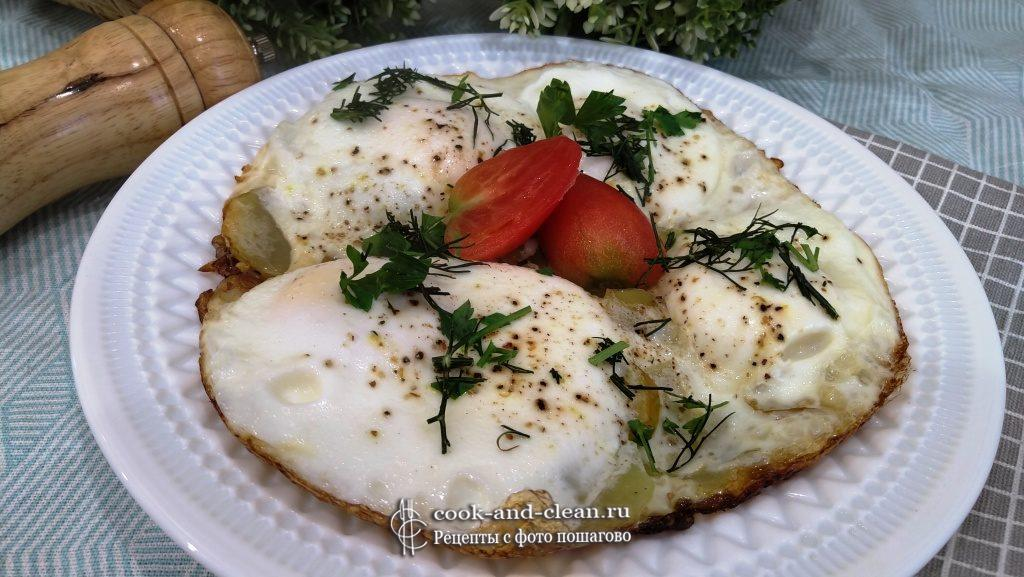 как приготовить яичница с кабачками на сковороде