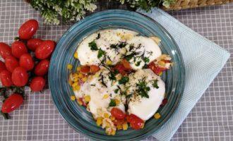 как приготовить яичница с кукурузой