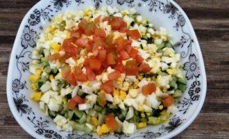 крабовый салат с яйцом пошаговый