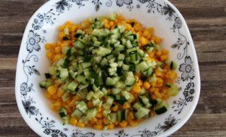 крабовый салат с яйцом с фото