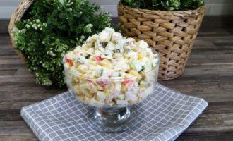 крабовый салат с яйцом