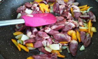 овощное рагу с куриными сердечками пошагово