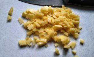 омлет с картошкой на сковороде фото