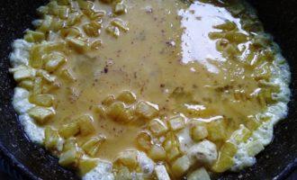 омлет с картошкой пошагово
