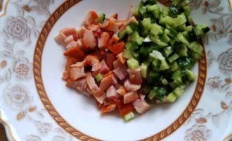 салат с копченой курицей и корейской морковкой с фото
